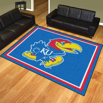 8' x 10' University of Kansas Blue Rectangle Rug