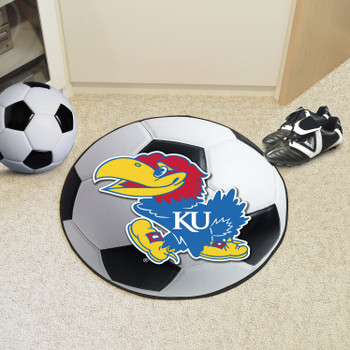 "27"" University of Kansas Soccer Ball Round Mat"