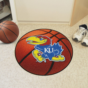 "27"" University of Kansas Basketball Style Round Mat"