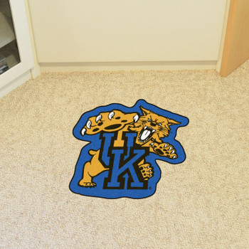 "University of Kentucky Mascot Mat - ""UK & Wildcat"" Logo"