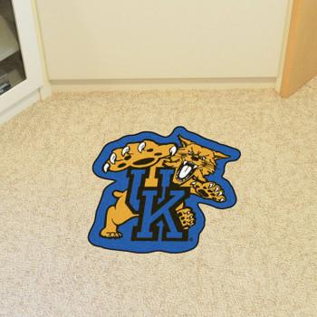 "University of Kentucky Mascot Mat - ""UK & Wildcat"" Logo"