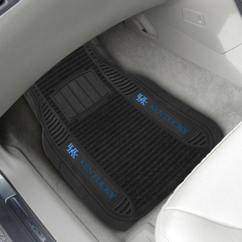 University of Kentucky Deluxe Vinyl & Black Carpet Car Mat, Set of 2