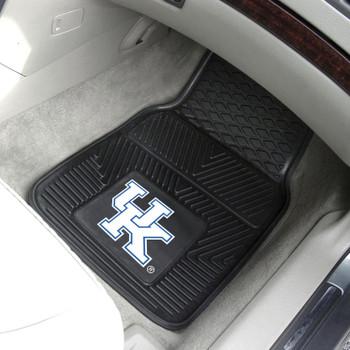 University of Kentucky Heavy Duty Vinyl Front Black Car Mat, Set of 2