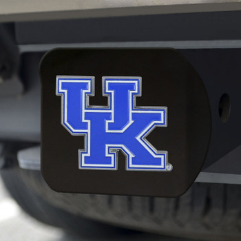 University of Kentucky Hitch Cover - Color on Black