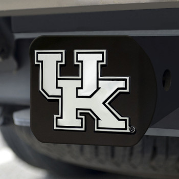 University of Kentucky Hitch Cover - Chrome on Black