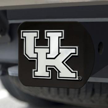 University of Kentucky Hitch Cover - Chrome on Black