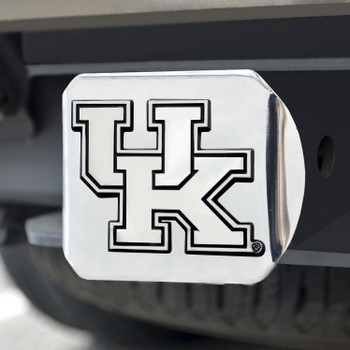 University of Kentucky Hitch Cover - Chrome on Chrome