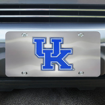 University of Kentucky Diecast Stainless Steel License Plate