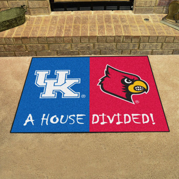 "33.75"" x 42.5"" Kentucky / Louisville House Divided Rectangle Mat"