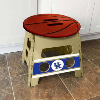 University of Kentucky Tan Folding Step Stool