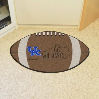 """20.5"""" x 32.5"""" University of Kentucky Southern Style Football Shape Mat"""