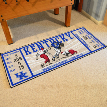 "30"" x 72"" University of Kentucky Ticket Rectangle Runner Mat"