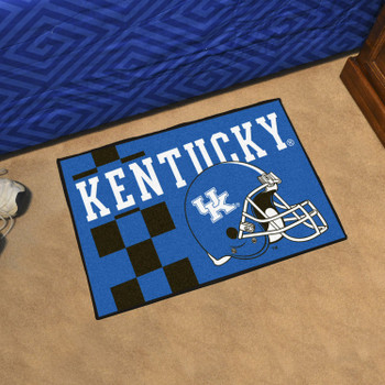 "19"" x 30"" University of Kentucky Uniform Blue Rectangle Starter Mat"