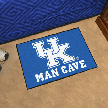 """19"""" x 30"""" University of Kentucky Man Cave Starter Blue Rectangle Mat"""