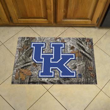 "19"" x 30"" University of Kentucky Rectangle Camo Scraper Mat - ""UK"" Logo"