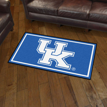 3' x 5' University of Kentucky Blue Rectangle Rug