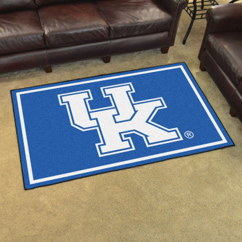 4' x 6' University of Kentucky Blue Rectangle Rug