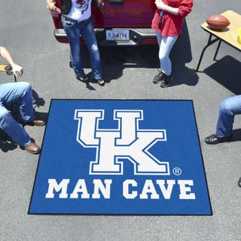 "59.5"" x 71"" University of Kentucky Man Cave Tailgater Blue Rectangle Mat"
