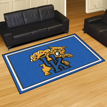 5' x 8' University of Kentucky Blue Rectangle Rug