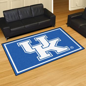 5' x 8' University of Kentucky UK Logo Blue Rectangle Rug