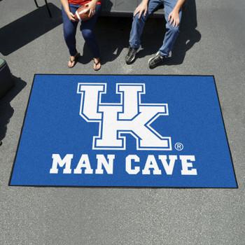 "59.5"" x 94.5"" University of Kentucky Man Cave Blue Rectangle Ulti Mat"