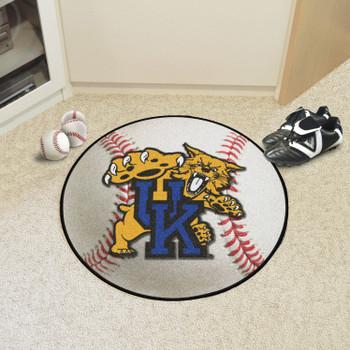 """27"""" University of Kentucky Wildcats Baseball Style Round Mat"""