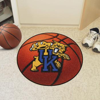 "27"" University of Kentucky Orange Basketball Style Round Mat"