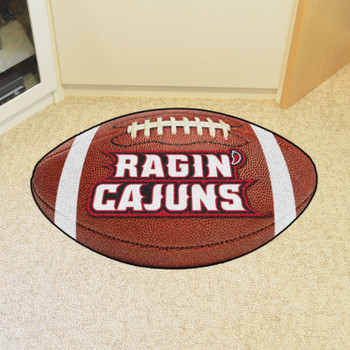 "20.5"" x 32.5"" University of Louisiana-Lafayette Football Shape Mat"