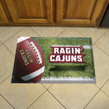 "19"" x 30"" University of Louisiana-Lafayette Rectangle Scraper Mat - ""Ragin' Cajuns"" Wordmark"