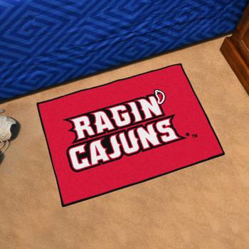 """19"""" x 30"""" University of Louisiana-Lafayette Red Rectangle Starter Mat"""