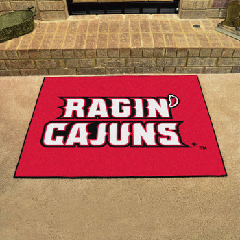 "33.75"" x 42.5"" University of Louisiana-Lafayette All Star Red Rectangle Mat"