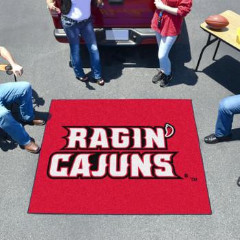 """59.5"""" x 71"""" University of Louisiana-Lafayette Red Tailgater Mat"""