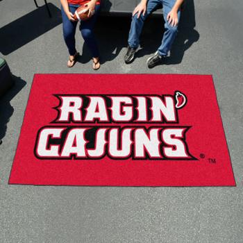 """59.5"""" x 94.5"""" University of Louisiana-Lafayette Red Rectangle Ulti Mat"""