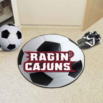"""27"""" University of Louisiana-Lafayette Soccer Ball Round Mat"""