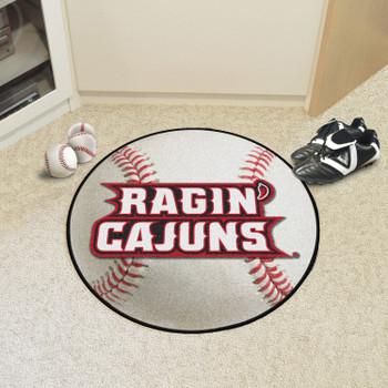 """27"""" University of Louisiana-Lafayette Baseball Style Round Mat"""
