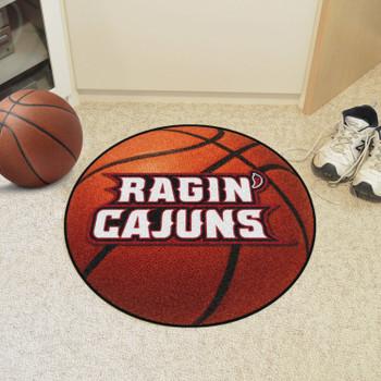 """27"""" University of Louisiana-Lafayette Basketball Style Round Mat"""