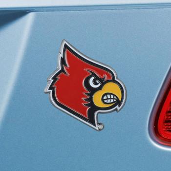 University of Louisville Red Color Emblem, Set of 2