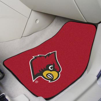 University of Louisville Red Carpet Car Mat, Set of 2