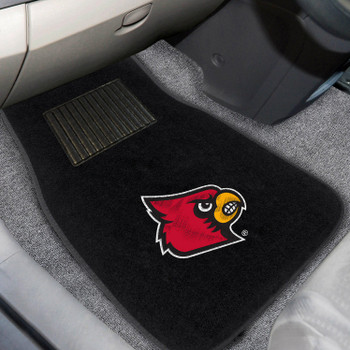 University of Louisville Embroidered Black Car Mat, Set of 2