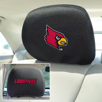 University of Louisville Car Headrest Cover, Set of 2