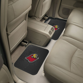 University of Louisville Heavy Duty Vinyl Car Utility Mats, Set of 2