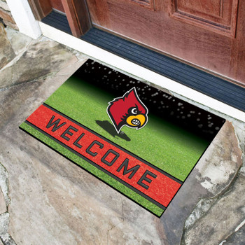 "18"" x 30"" University of Louisville Crumb Rubber Door Mat"