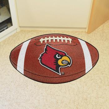 "20.5"" x 32.5"" University of Louisville Football Shape Mat"