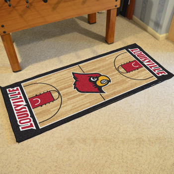 "30"" x 72"" University of Louisville NCAA Basketball Rectangle Runner Mat"