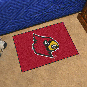 "19"" x 30"" University of Louisville Red Rectangle Starter Mat"