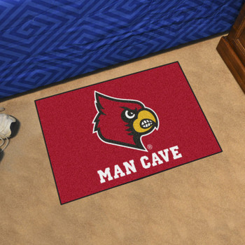"19"" x 30"" University of Louisville Man Cave Starter Red Rectangle Mat"