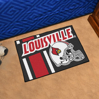 "19"" x 30"" University of Louisville Uniform Black Rectangle Starter Mat"
