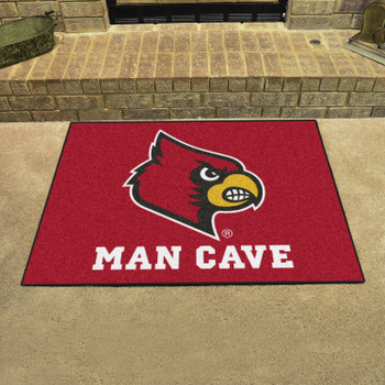 "33.75"" x 42.5"" University of Louisville Man Cave All-Star Red Rectangle Mat"