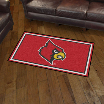 3' x 5' University of Louisville Red Rectangle Rug