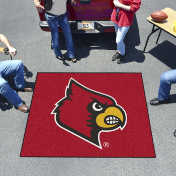 "59.5"" x 71"" University of Louisville Red Tailgater Mat"